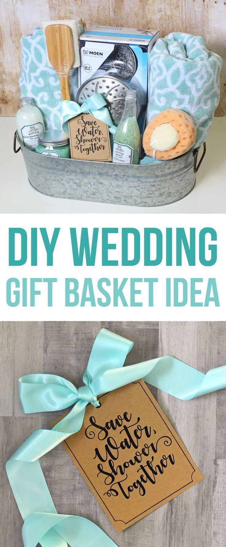 Homemade Wedding Gifts  Shower Themed DIY Wedding Gift Basket Idea