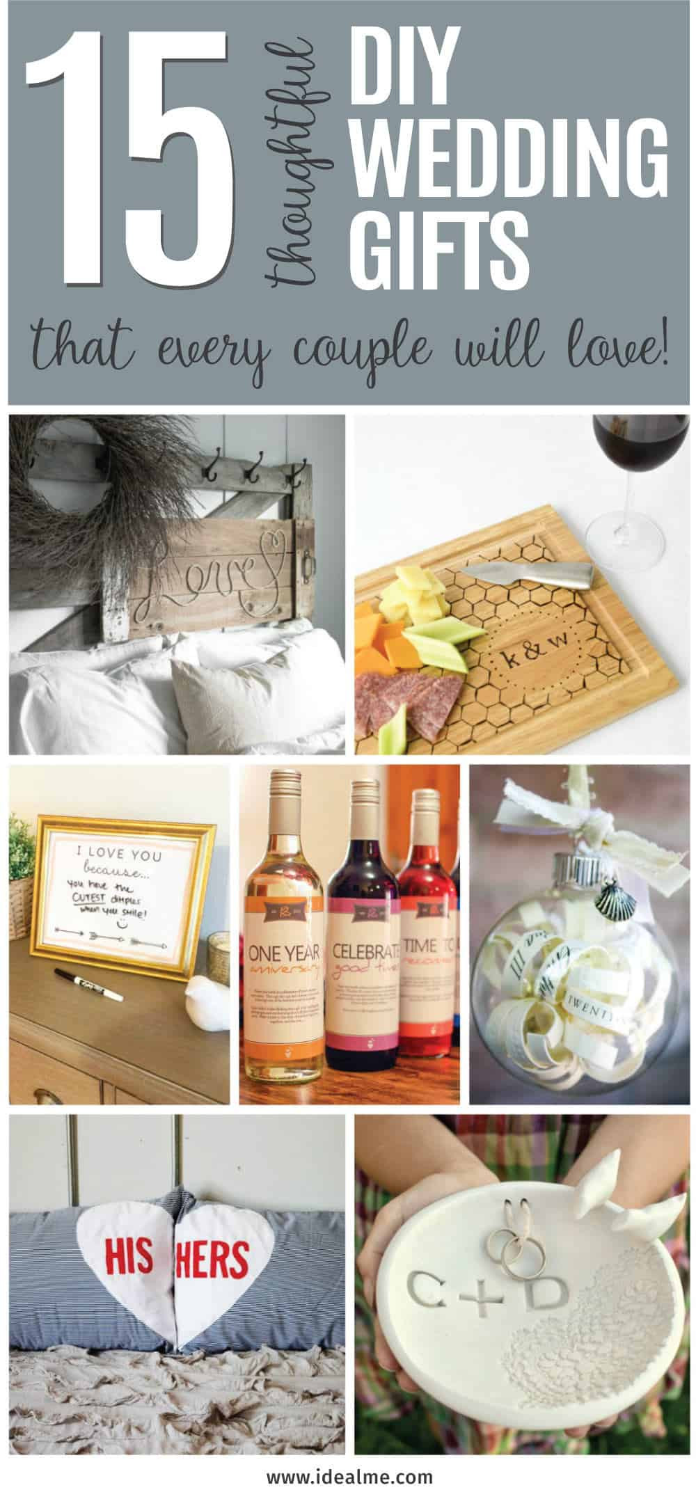 Homemade Wedding Gifts  15 Thoughtful DIY Wedding Gifts that Every Couple Will