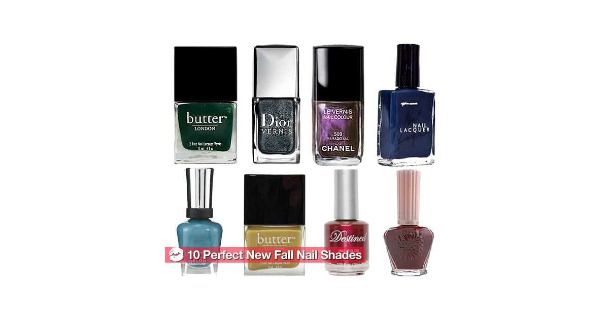 Hottest Nail Colors  The Hottest New Nail Polish Colors for Fall 2010