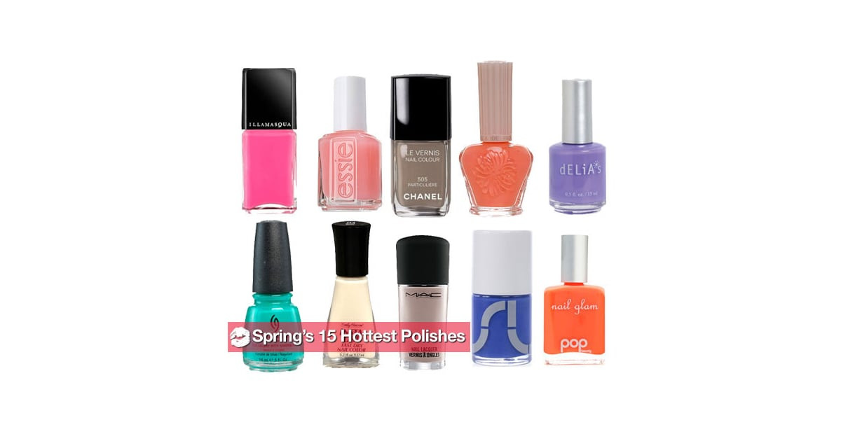 Hottest Nail Colors  The Hottest New Nail Polish Colors For Spring 2010
