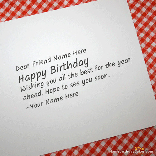 How To Write Birthday Wishes  Write Name Cool Birthday Card For Any Friend