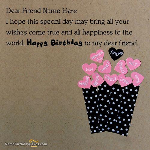 How To Write Birthday Wishes  Write name on Friends Birthday Card Happy Birthday
