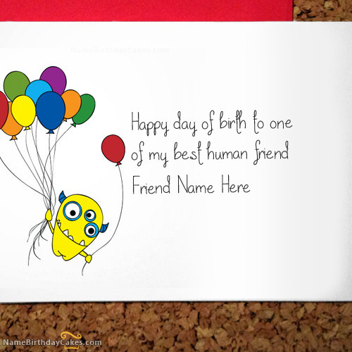 How To Write Birthday Wishes  Write name on Crazy Birthday Card for Friend Happy