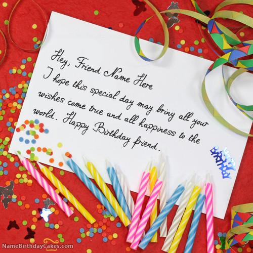 How To Write Birthday Wishes  Write name on Unique Birthday Card Happy Birthday Wishes