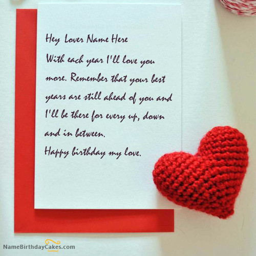 How To Write Birthday Wishes  Write name on Wish Birthday Card for Lover Happy