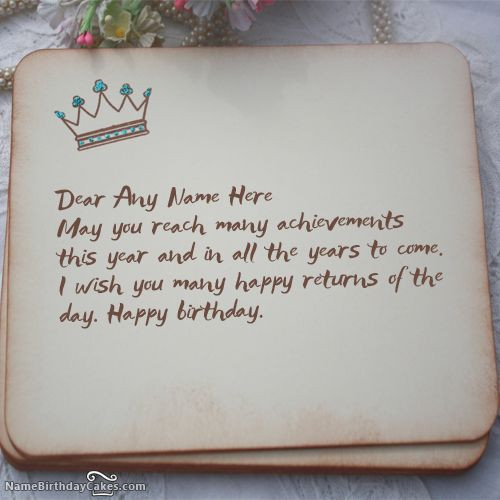 How To Write Birthday Wishes  23 best images about Birthday Name Cards For Friends on