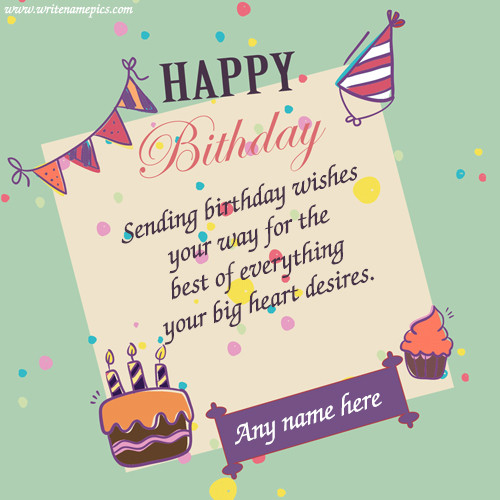 How To Write Birthday Wishes  happy birthday wishes cards with name images for free