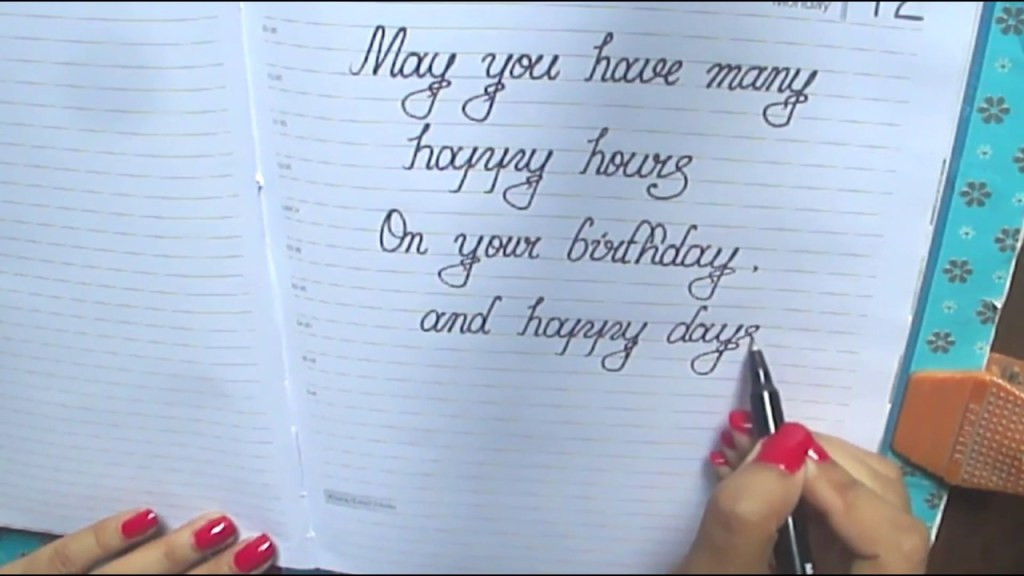 How To Write Birthday Wishes  Some Ideas About What To Write In A Birthday Card