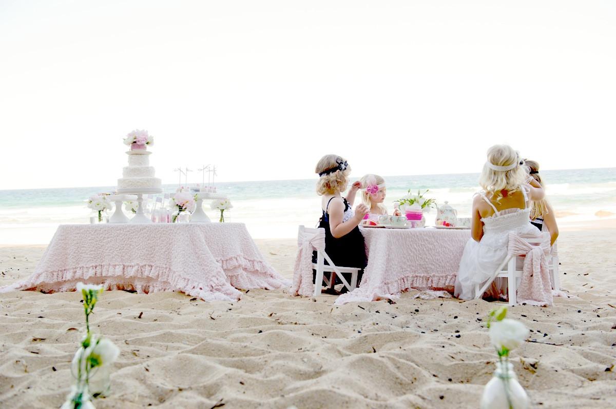 Ideas For A Beach Party  Kara s Party Ideas High Tea The Beach Party