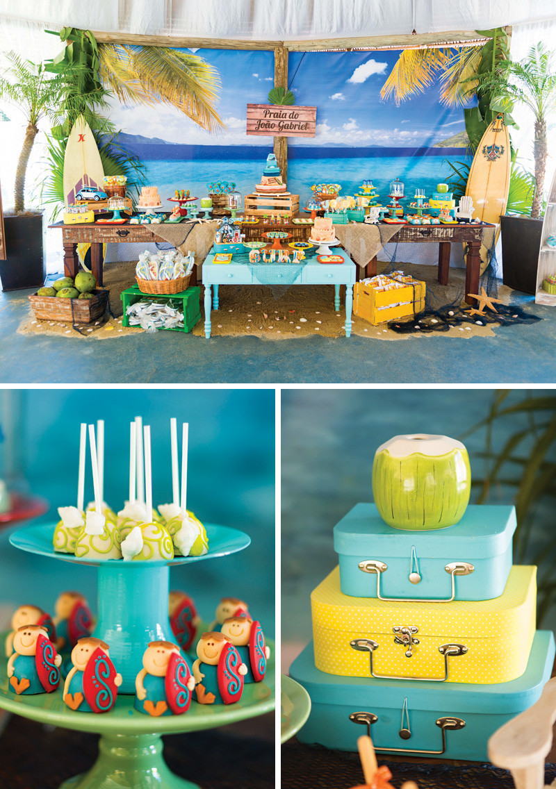 Ideas For A Beach Party  Surf s Up Incredible Island Paradise Birthday Party