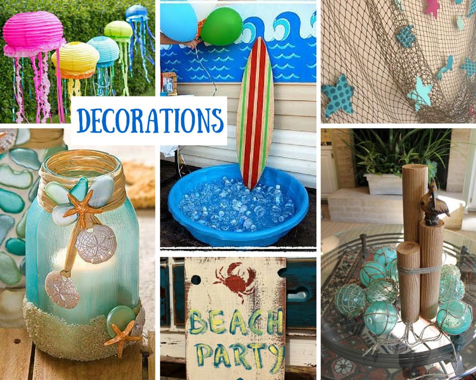Ideas For A Beach Party  Beach Theme Birthday Party Ideas