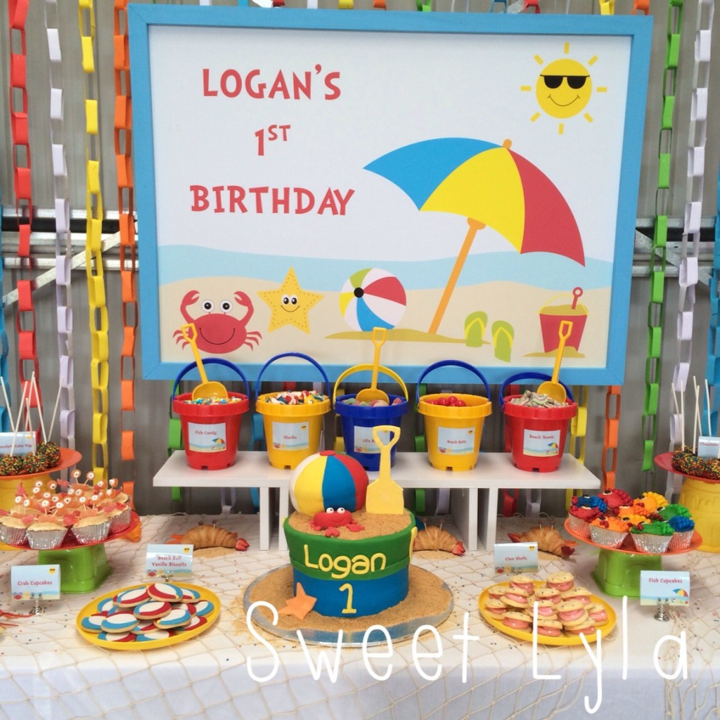 Ideas For A Beach Party  First Birthday Beach Party