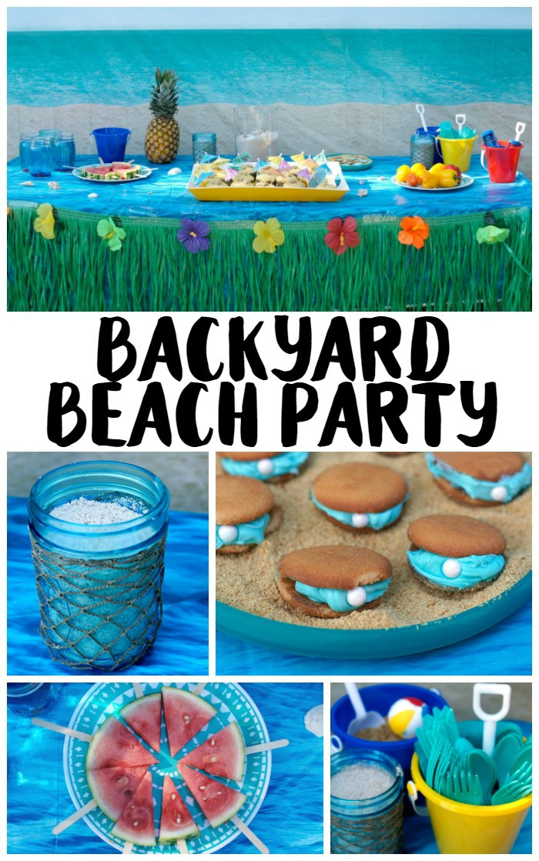 Ideas For A Beach Party  Backyard Beach Party Ideas Not Quite Susie Homemaker