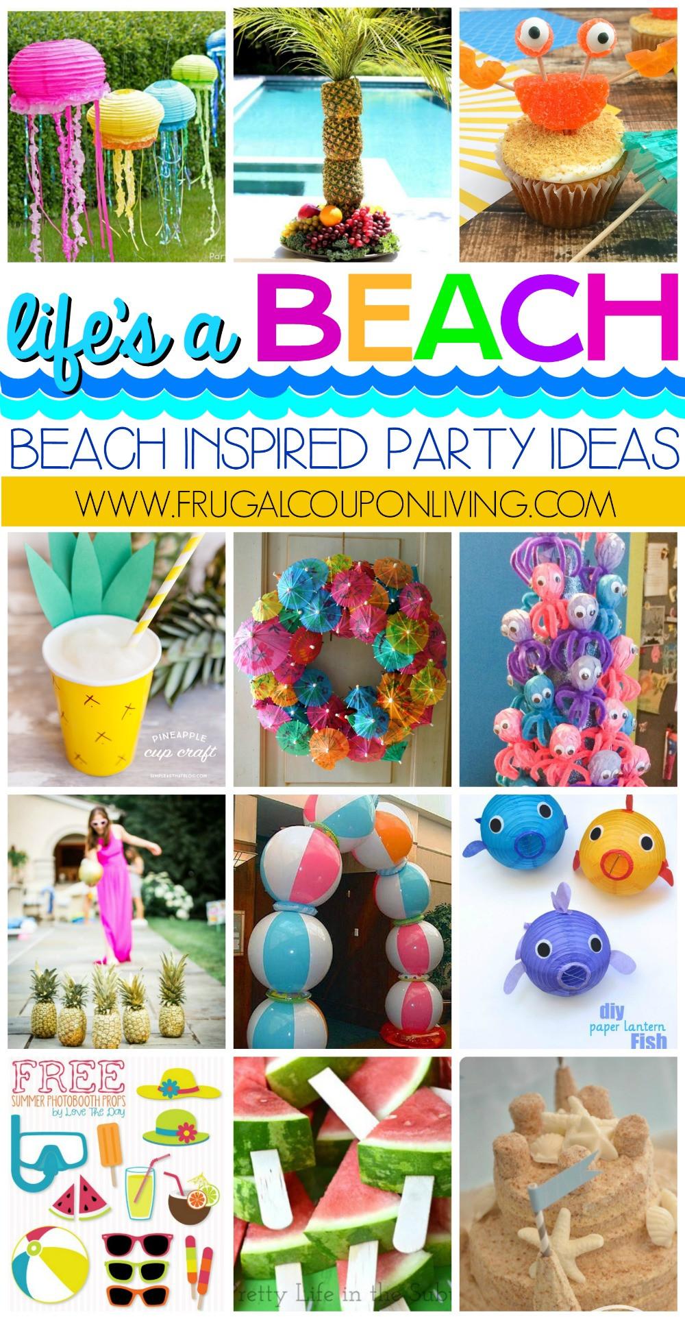 Ideas For A Beach Party  Beach Inspired Party Ideas