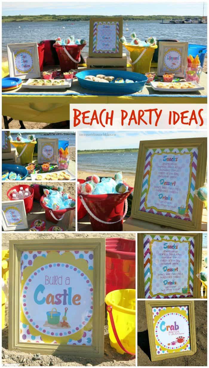 Ideas For A Beach Party  Beach Birthday Party Ideas Moms & Munchkins
