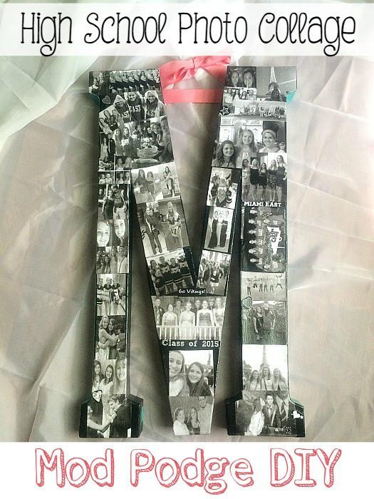 Ideas For A High School Graduation Gift  DIY High School Years Collage Graduation Gift