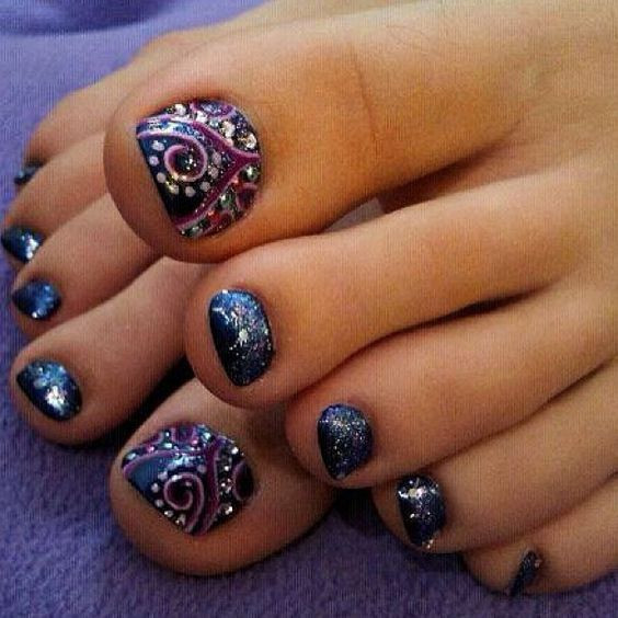Images Of Toe Nail Designs  Pedicures Just Got Better With These 50 Cute Toe Nail Designs