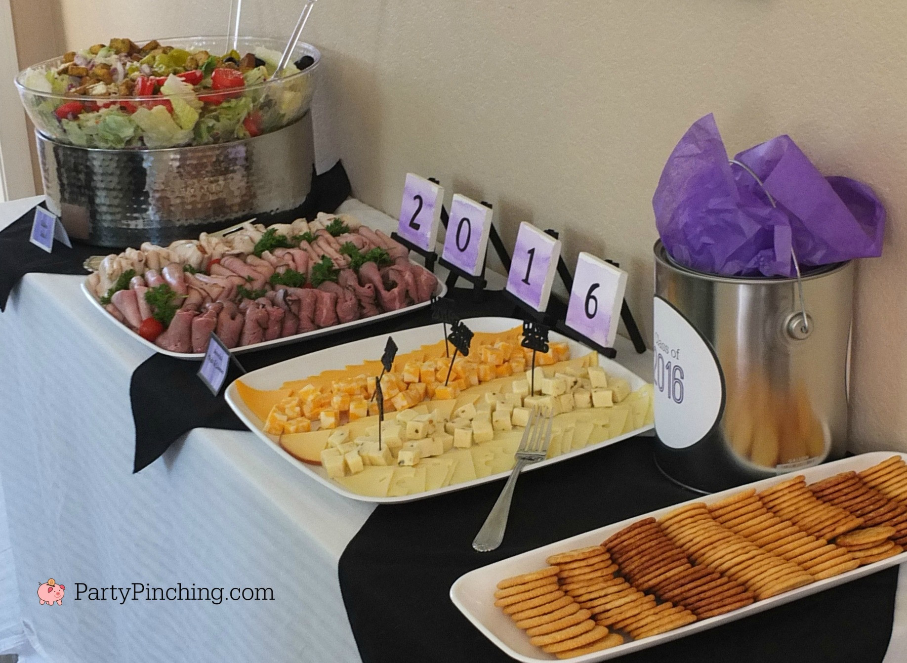 Inexpensive Graduation Party Food Ideas  Art Theme Graduation Party Graduation Party Ideas Food