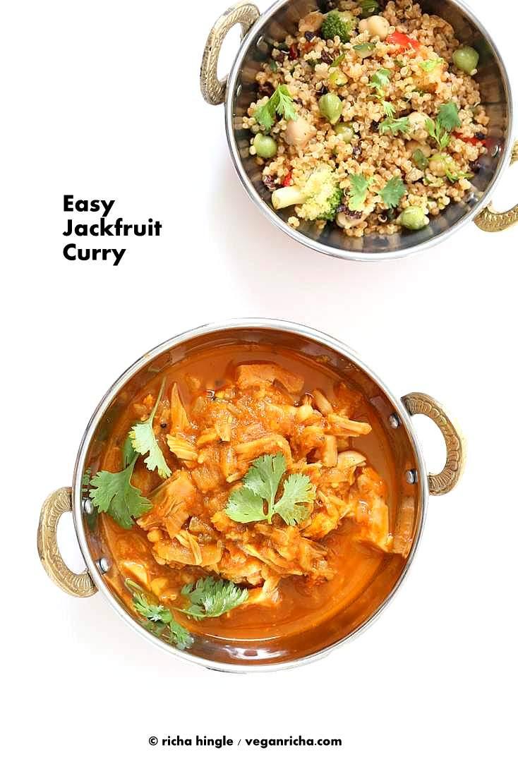 Jackfruit Recipes Indian  Easy Jackfruit Curry Vegan Richa