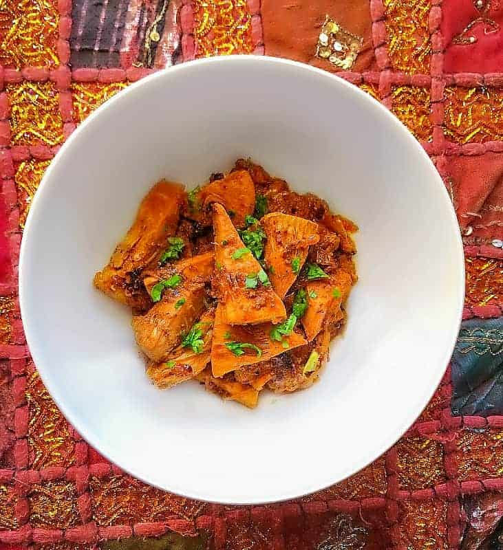 Jackfruit Recipes Indian  Kathal Sabzi Indian Jackfruit Recipe Glutenfree Vegan