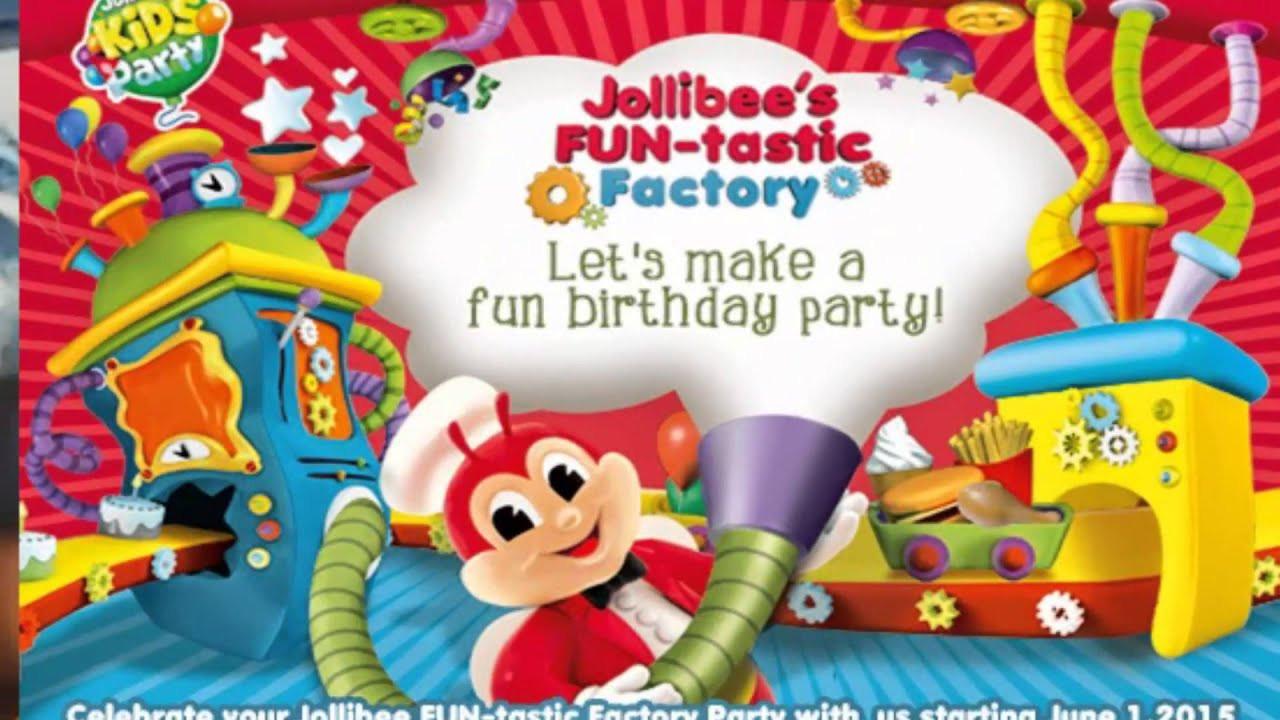 Jollibee Kids Party  Jollibee Kids Party package