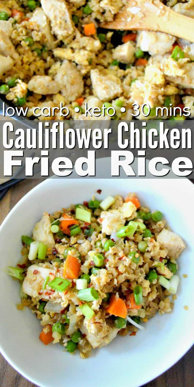 Keto Chicken Fried Rice  Keto Cauliflower Chicken Fried Rice Easy 30 Minute Recipe