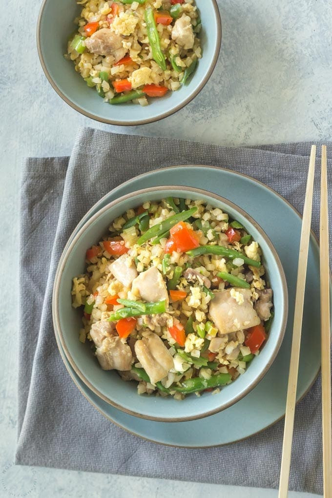 Keto Chicken Fried Rice  Keto Low Carb Chicken Fried Rice Noshtastic