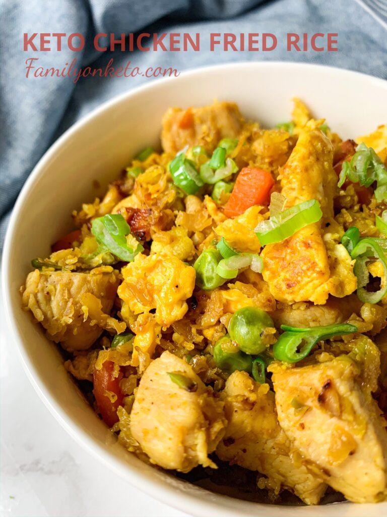 Keto Chicken Fried Rice  Keto chicken fried rice Family Keto