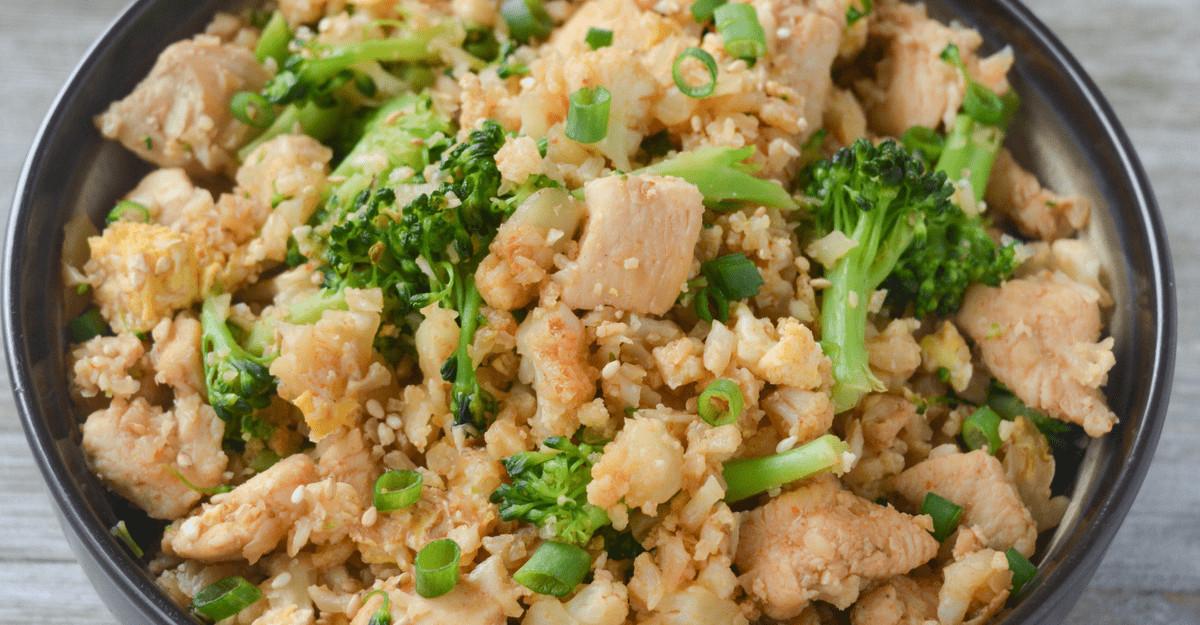 Keto Chicken Fried Rice  Keto Chicken Fried Cauliflower Rice Hey Keto Mama