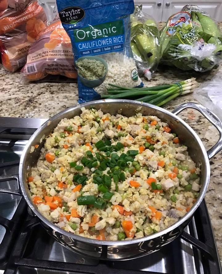 Keto Chicken Fried Rice  Keto Chicken Cauliflower Fried Rice Recipe