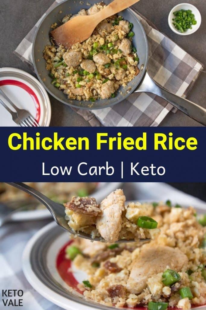 Keto Chicken Fried Rice  Keto Chicken Cauliflower Fried Rice Low Carb Recipe