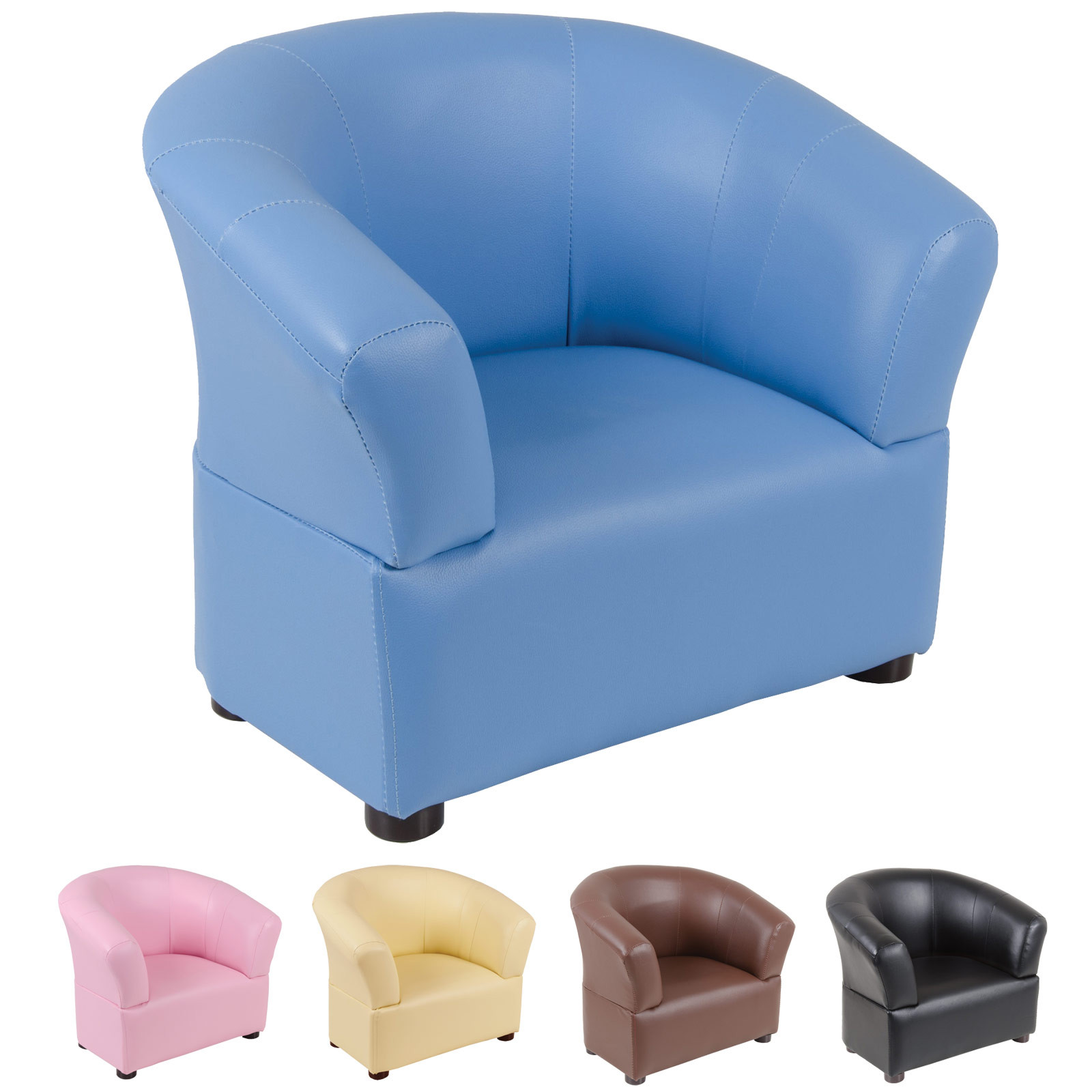 Kids Comfy Chair  Kids fy PVC Leather Look Tub Chair Armchair Seat
