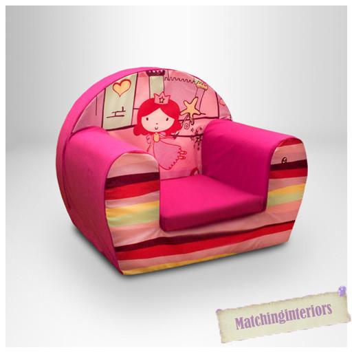 Kids Comfy Chair  Princess Castle Pink Kids Childrens fy Foam Chair