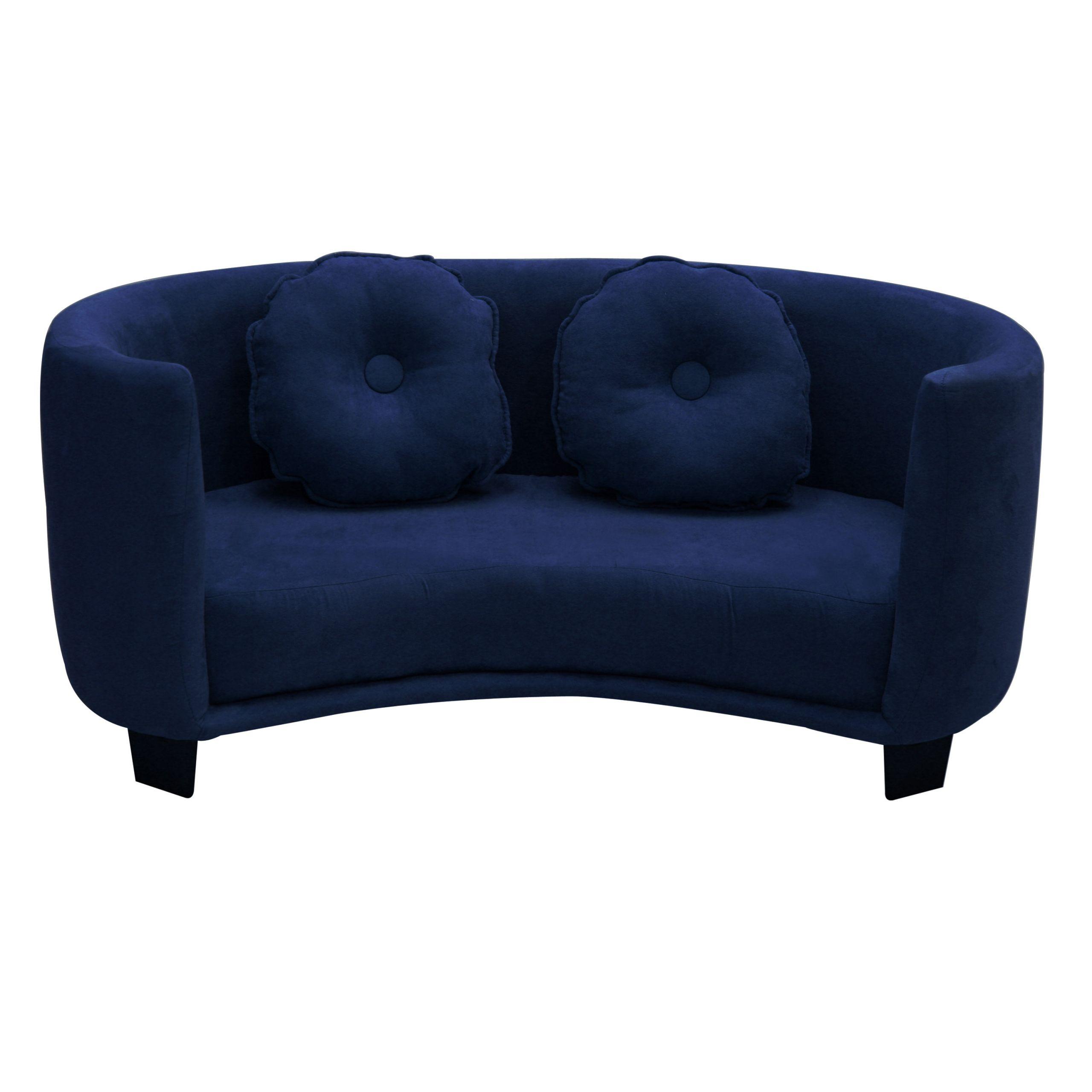 Kids Comfy Chair  Komfy Kings Kids fy Sofa Navy Blue Micro Baby