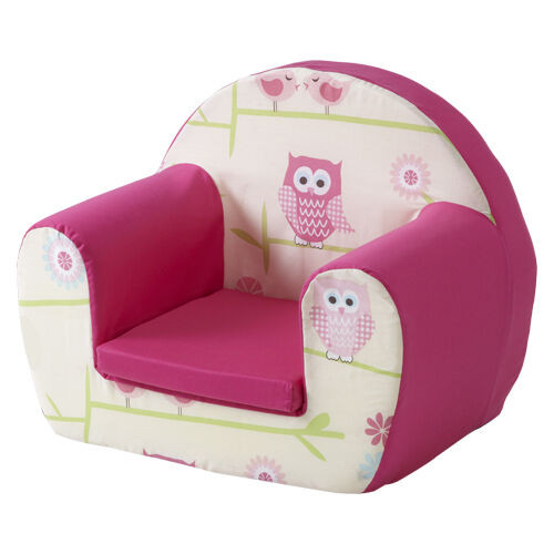 Kids Comfy Chair  Owls Twit Twoo Pink Childrens Kids fy Foam Chair