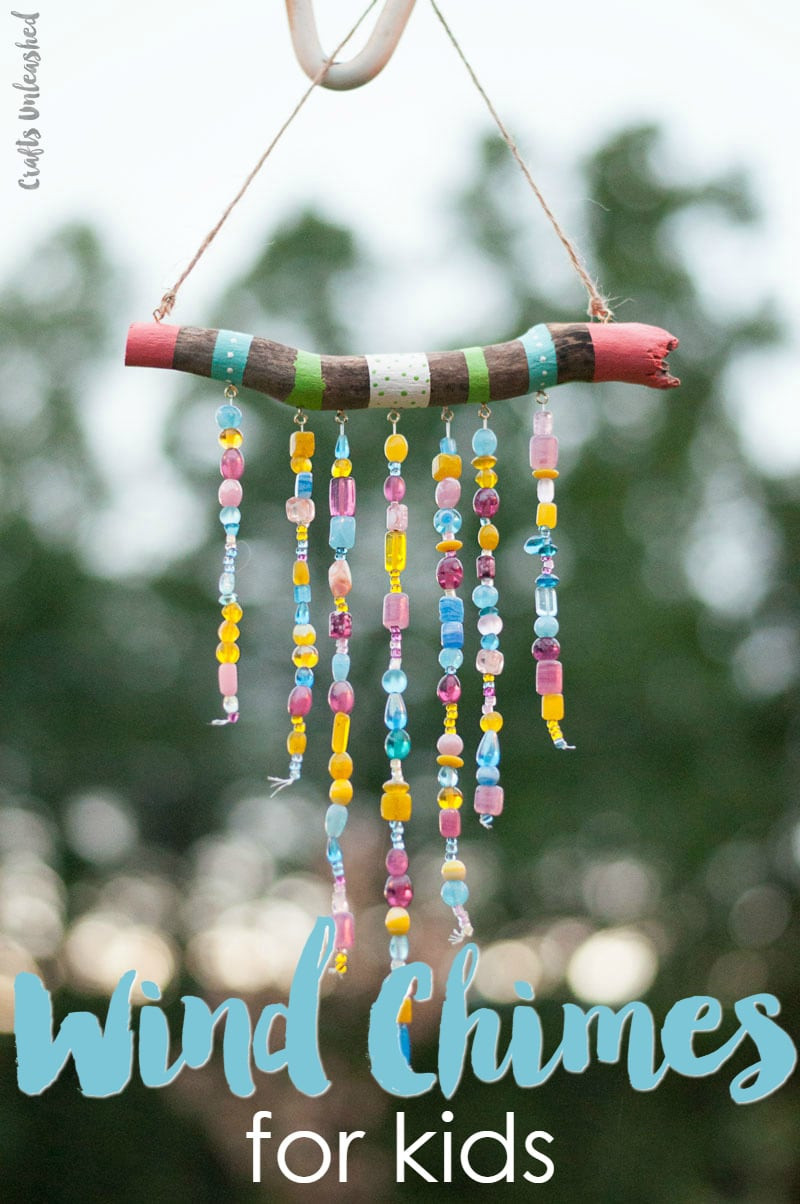 Kids DIY Projects  Beaded DIY Wind Chimes For Kids