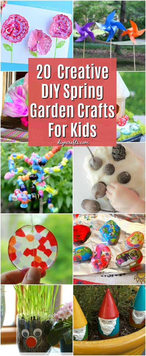 Kids DIY Projects  20 Fun And Creative DIY Spring Garden Crafts For Kids