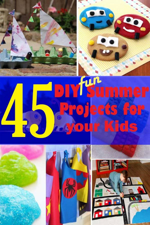 Kids DIY Projects  45 DIY Fun Summer Projects to do with your Kids The