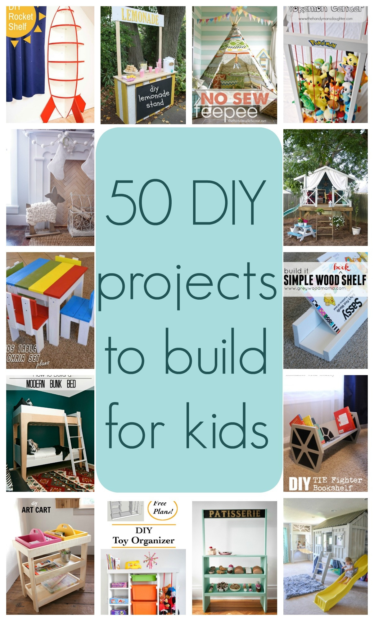 Kids DIY Projects  50 DIY projects to build for kids Part 1 The Created Home