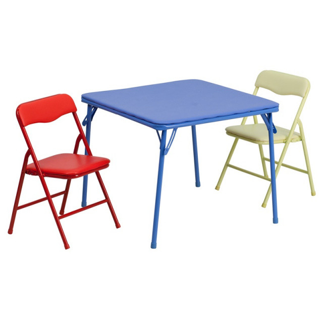 Kids Fold Up Table  FF Kids Folding Table & 2 Chairs