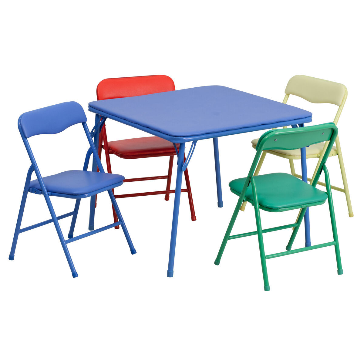 Kids Fold Up Table  Kids Colorful 5 Piece Folding Table and Chair Set