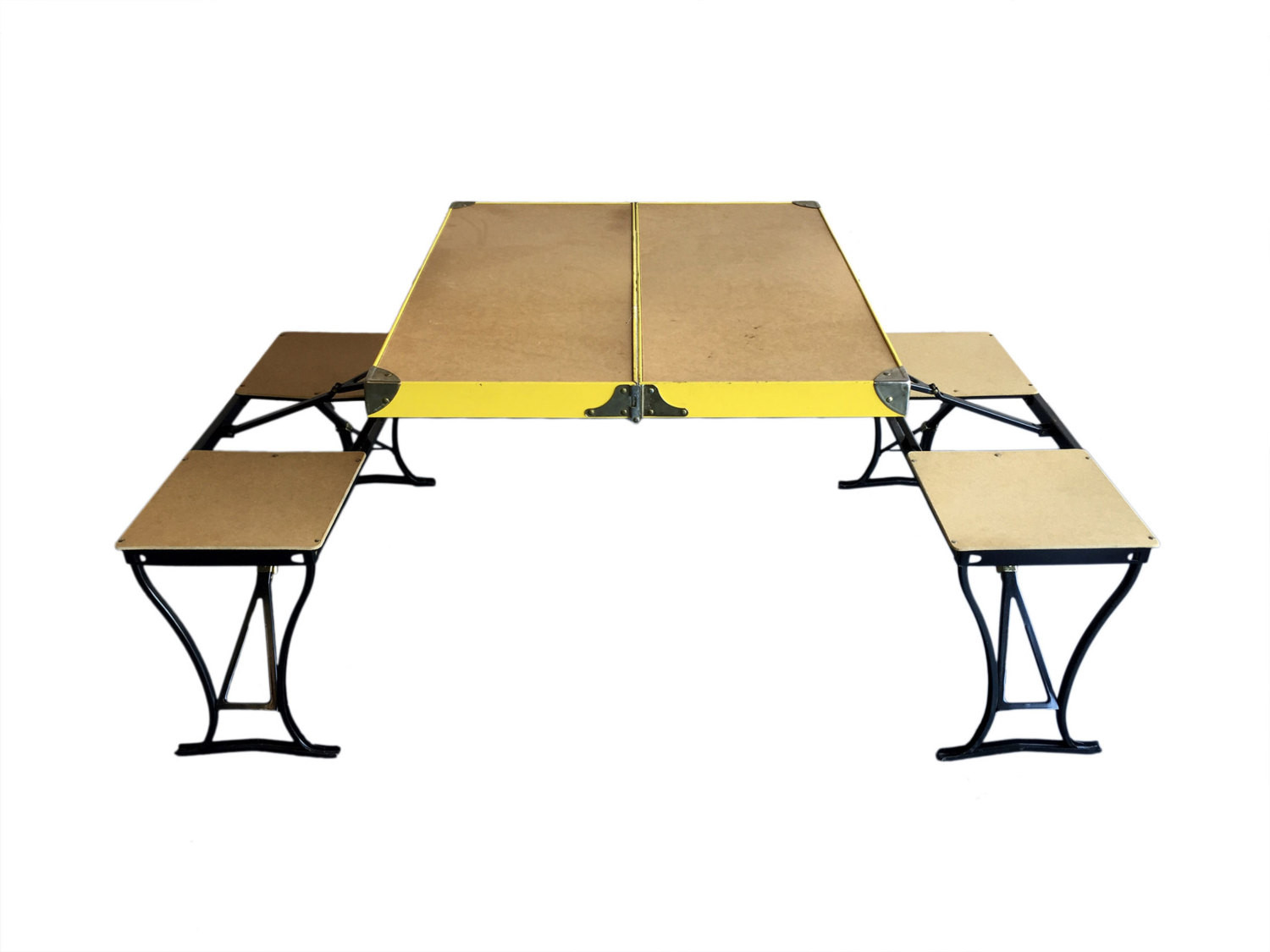 Kids Fold Up Table  Vintage Mid Century Fold Up Picnic Table Handy Table and