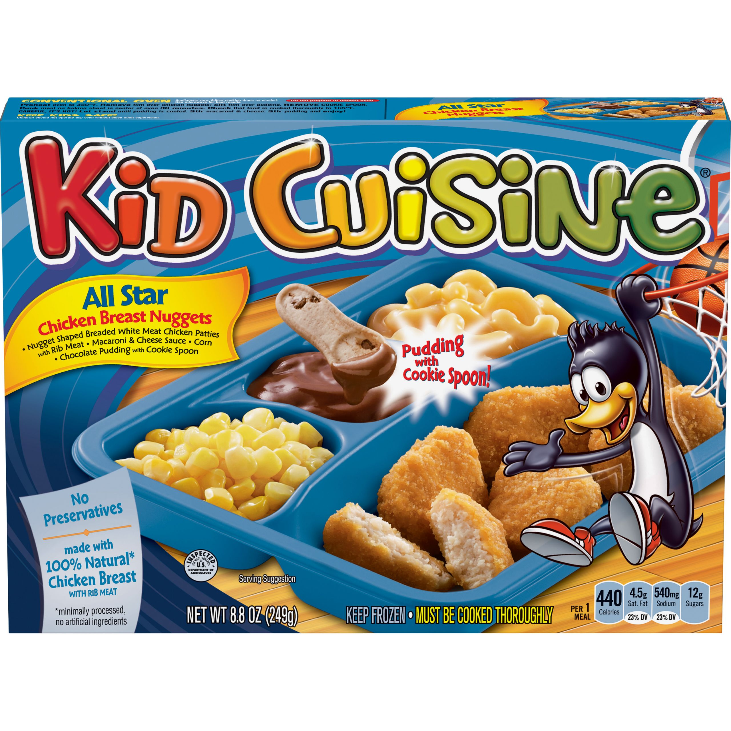 Kids Frozen Dinners  KID CUISINE Bikini Bottom Chicken Breast Nug s Meal With