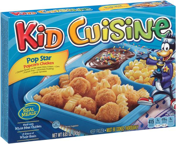 Kids Frozen Dinners  Kid Cuisine Pop Star Popcorn Chicken Frozen DinnerBox