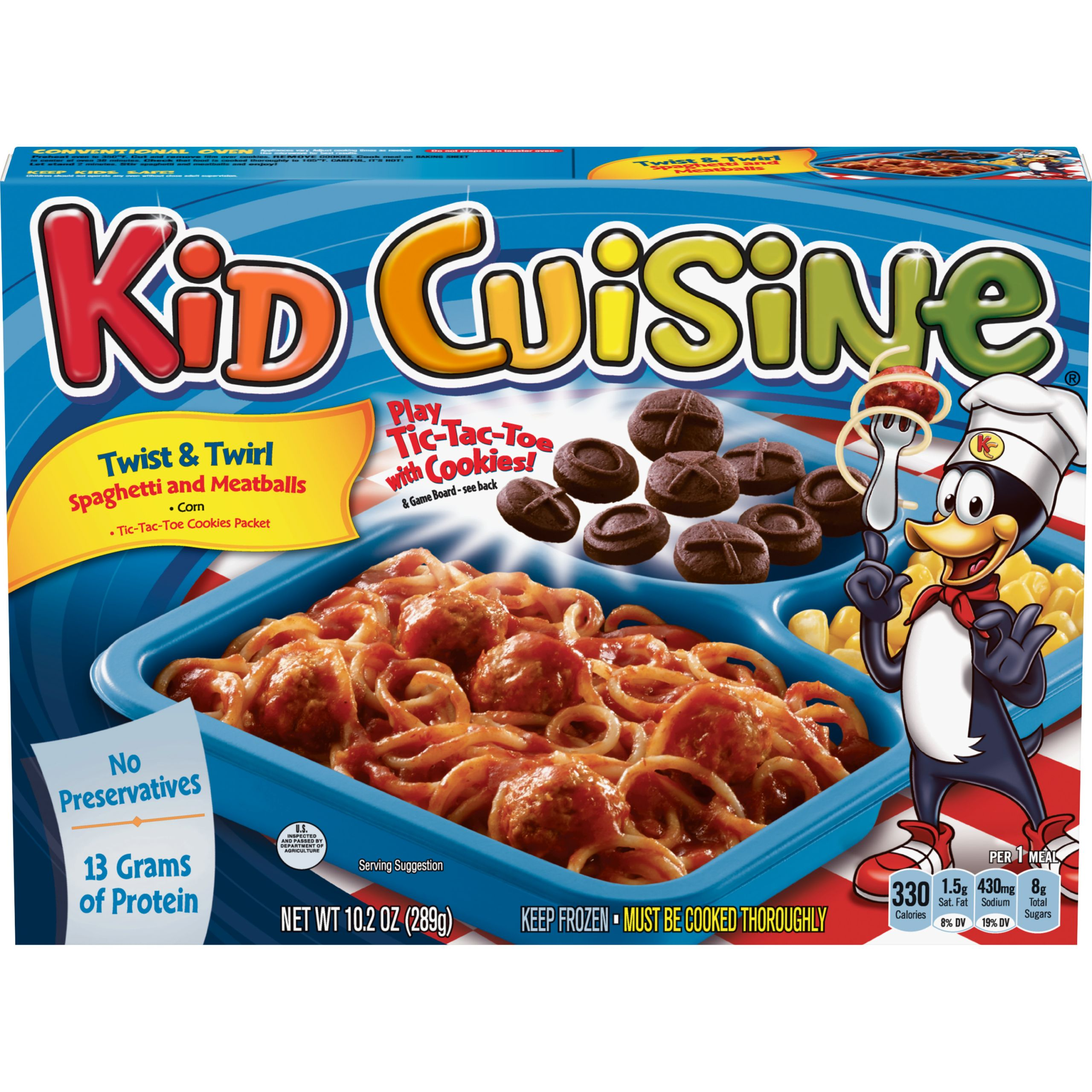 Kids Frozen Dinners  KID CUISINE Twist & Twirl Spaghetti and Meatballs Frozen