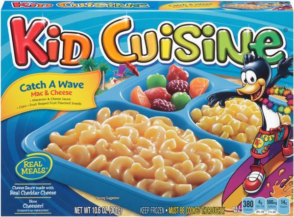 Kids Frozen Dinners  Kid Cuisine Catch A Wave Mac & Cheese Frozen Dinner