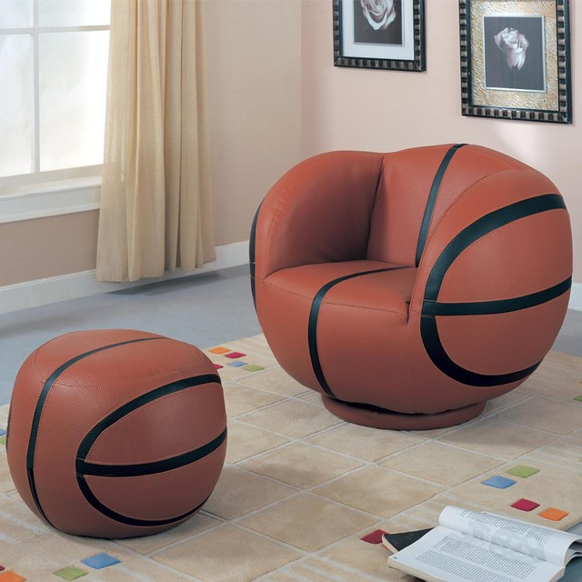 Kids Game Room Furniture  Kids Sports Chairs Kids Basketball Chair and Ottoman