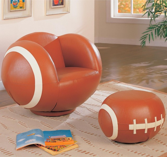 Kids Game Room Furniture  Kids Sports Chairs Kids Football Chair and Ottoman