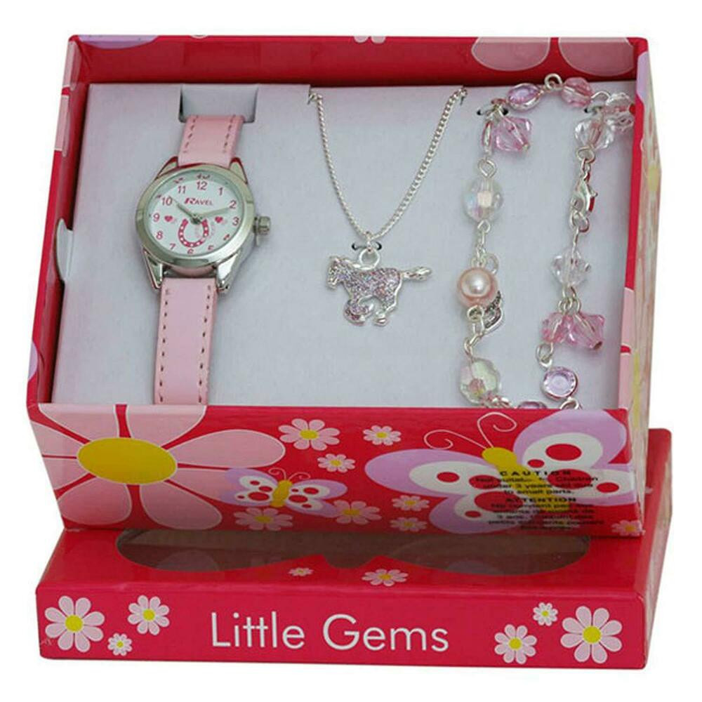 Kids Gift Sets  Ravel Little Gems Kids Horse Watch & Jewellery Gift Set