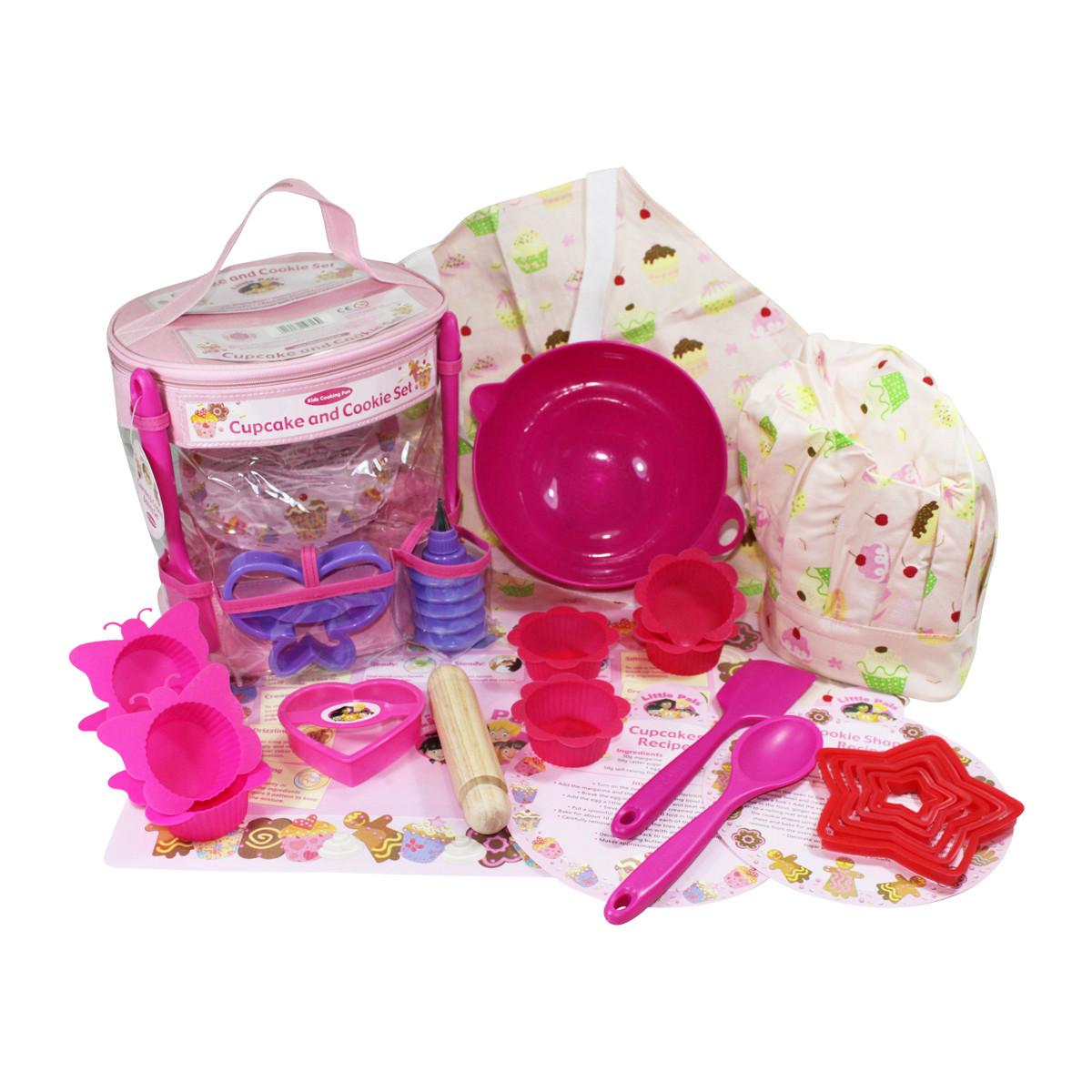 Kids Gift Sets  plete Childrens Baking Set Pink